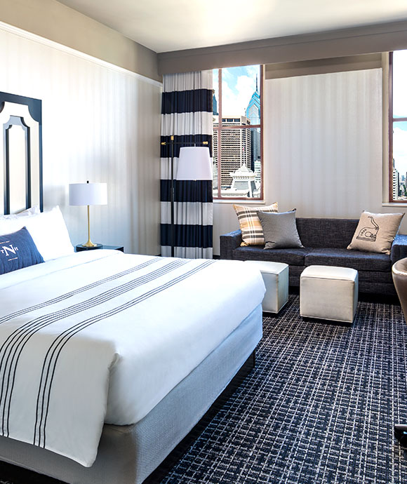 City View King Guest Room at The Notary Hotel, Autograph Collection, Philadelphia